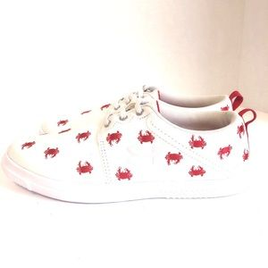 Under Armour White with red Sneakers. Size 6.5